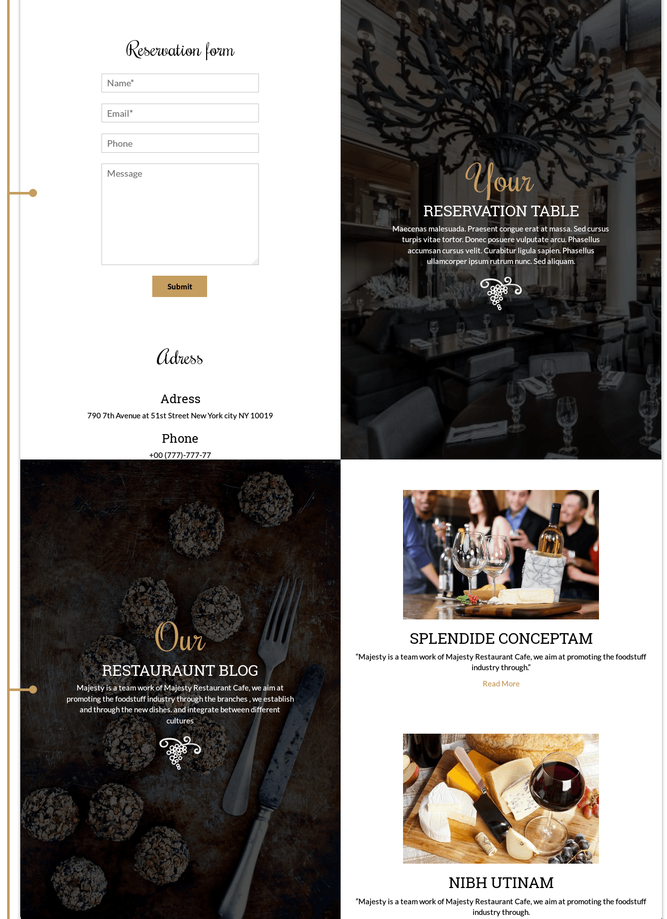 Cuisine - WordPress restaurant theme, blog