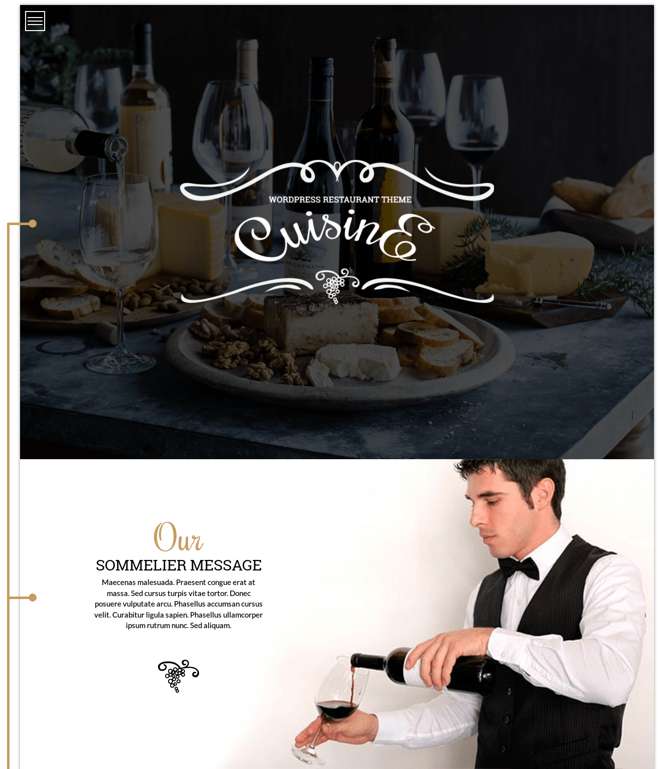 Cuisine - WordPress restaurant theme, header