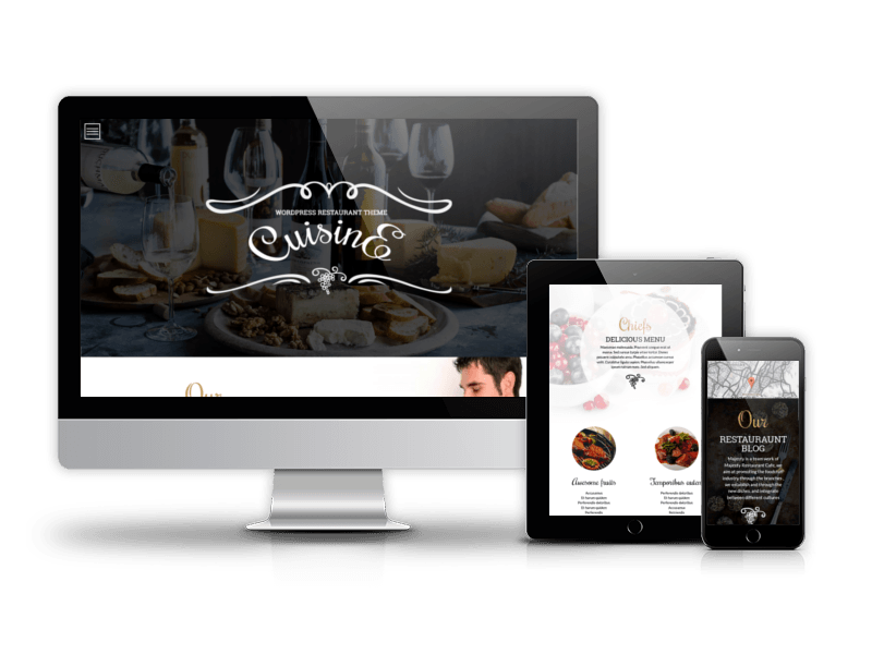 WordPress restaurant theme, Cuisine