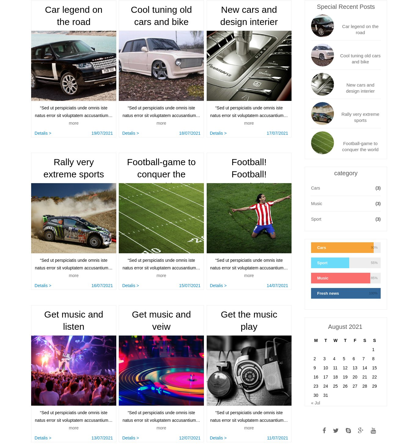Delta free Wordpress blog Theme Blog