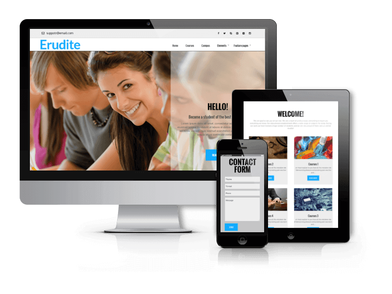 Erudite, WordPress education theme