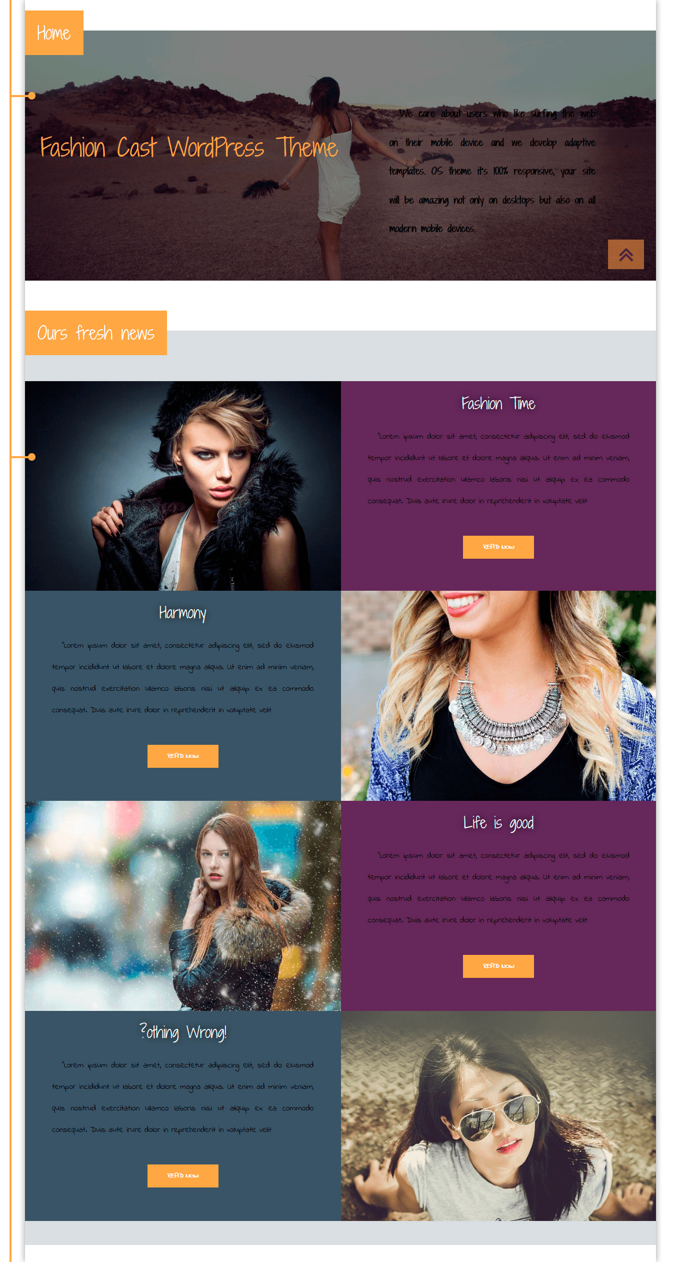 Fashion Cast, WooCommerce WordPress theme