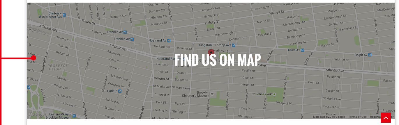 Google map of WP theme Gourmet
