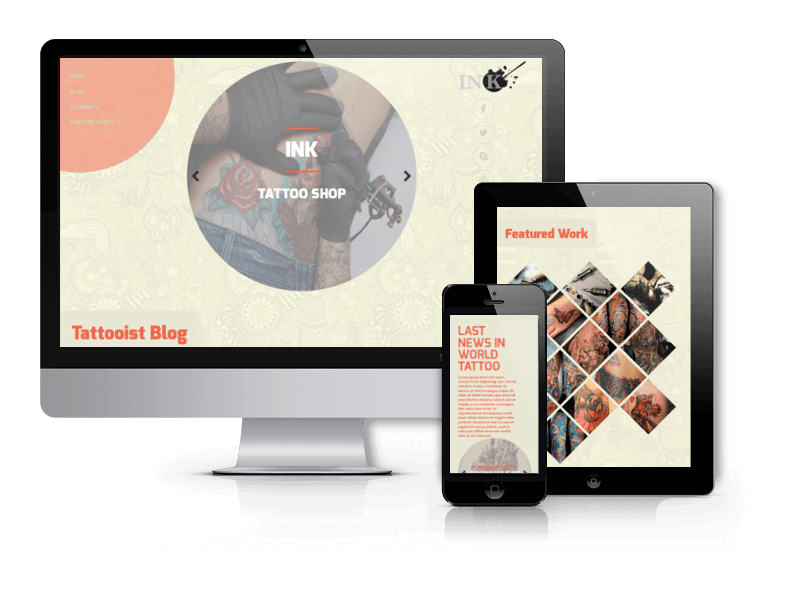 Ink - Tattoo Salon WordPress Theme