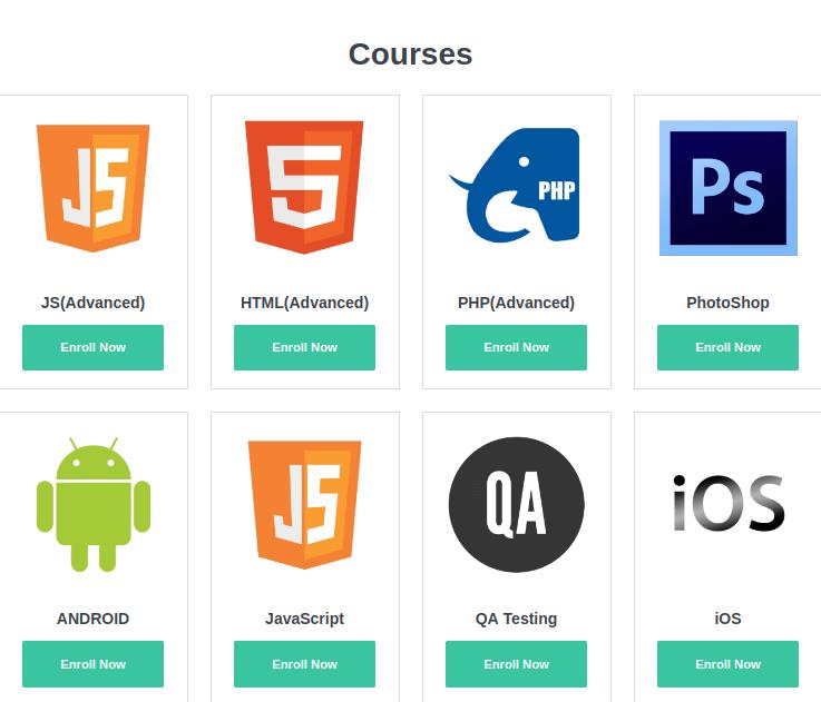 wordpress education theme courses