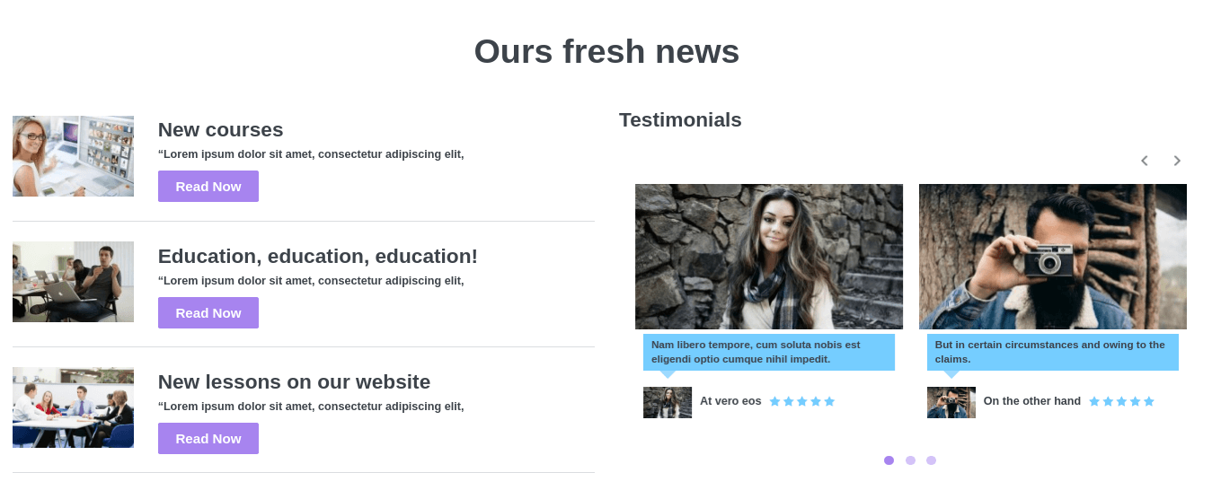 wordpress education theme news
