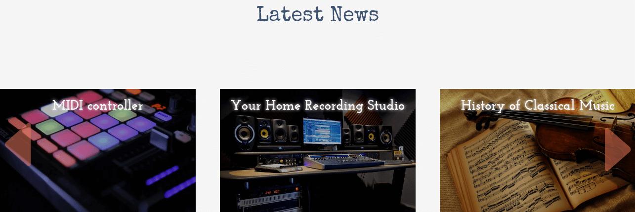 Music Store WordPress Theme news