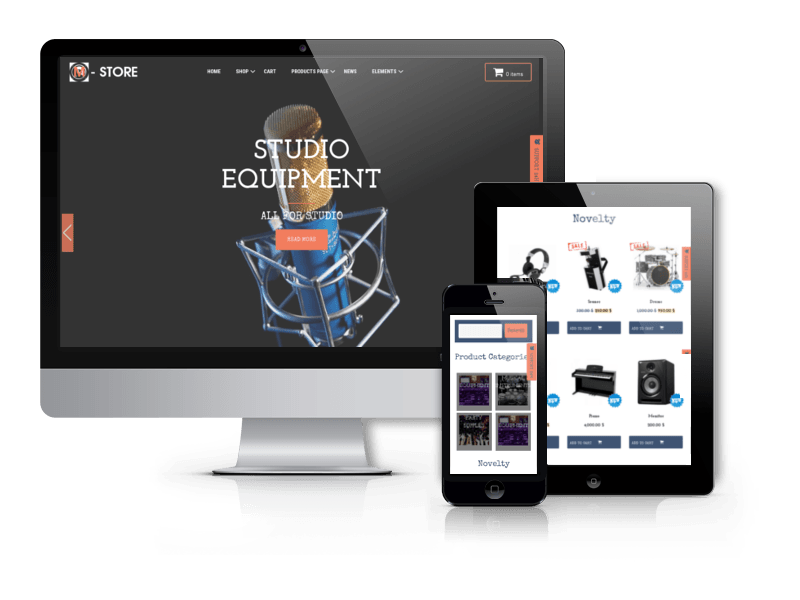 Music Store WordPress Theme M-Store
