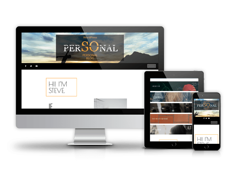 Blog WordPress theme Personal