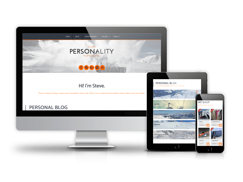 WordPress  personal blog theme Personality