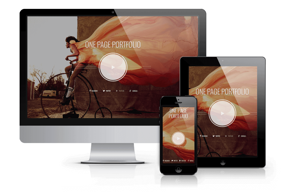 Photographer – WordPress  One Page Theme
