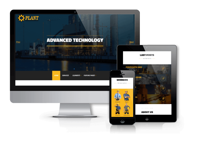 Industrial WordPress theme Plant