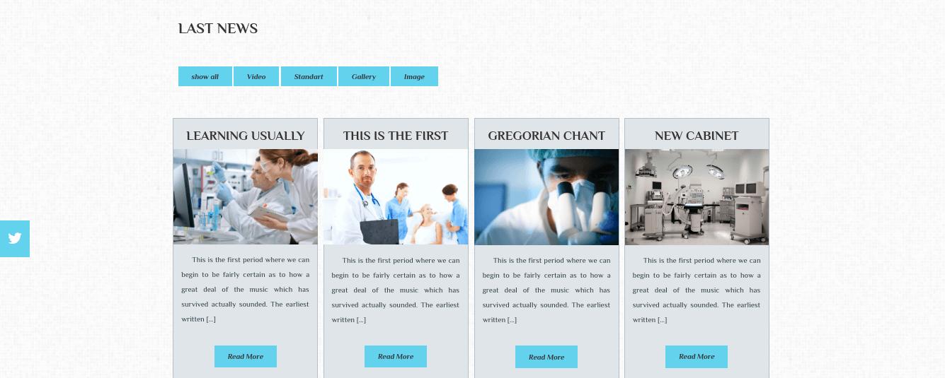 Medical WordPress Theme Last News