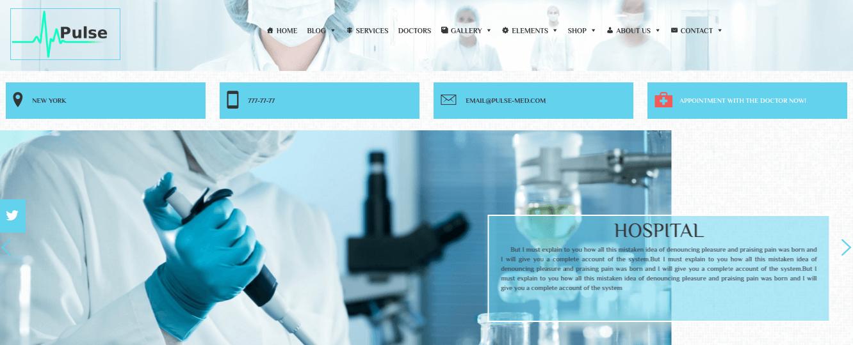 Medical WordPress Theme Slider