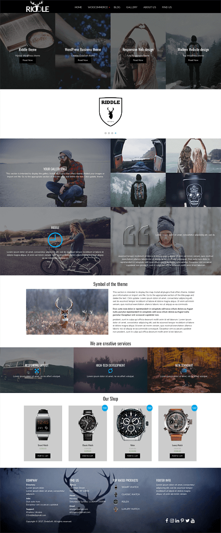 Riddle - Business Wordpress theme