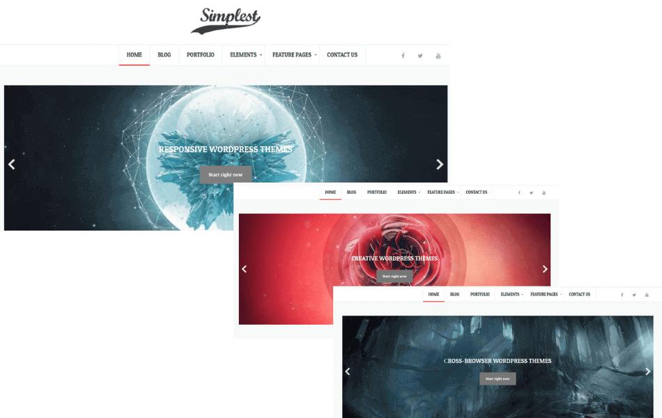 simple wordpress blog theme, slideshow