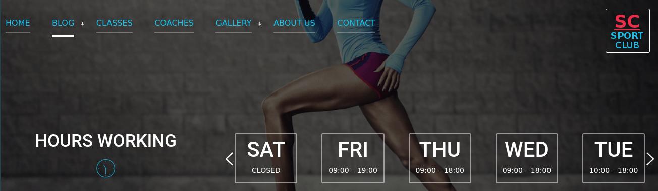 Sport Club - Sport Wordpress Theme