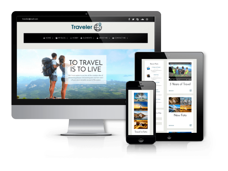 Free WordPress Blog theme Traveler
