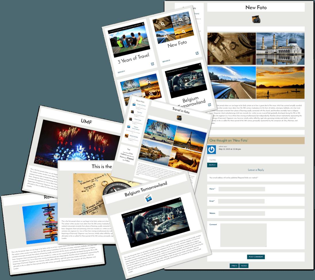 Posts of Free WordPress Blog theme Traveler