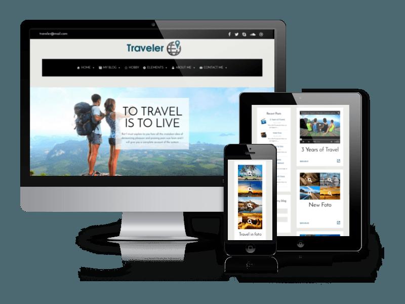 Free Wordpress Blog Theme Traveler