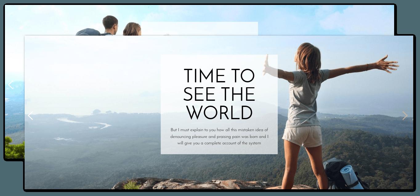 Slider of Free WordPress Blog theme Traveler