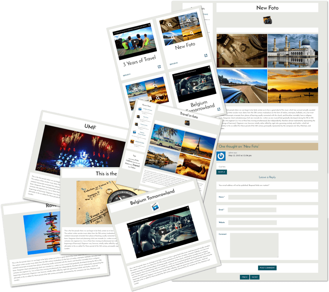 Posts of Free WordPress Blog theme Traveler