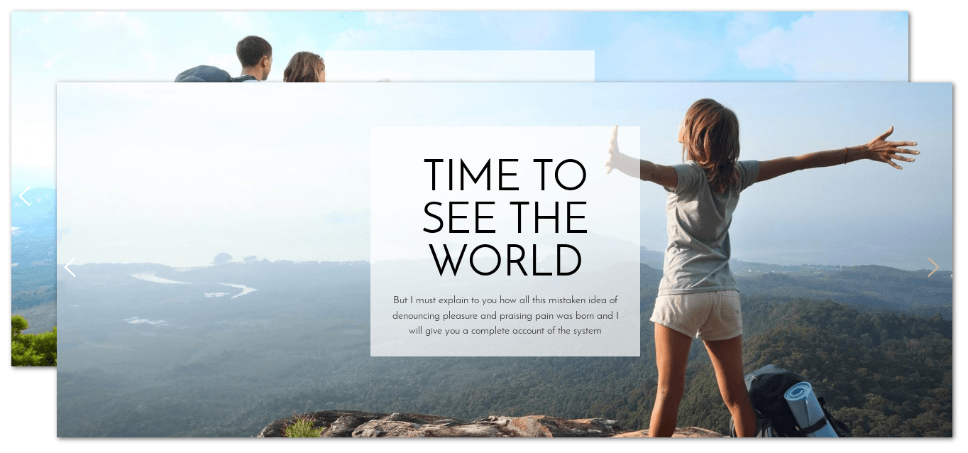 Slider of Free WordPress Blog theme Traveler