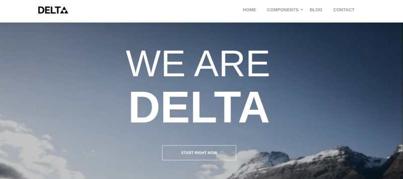 Delta Free Wordpress Blog Theme