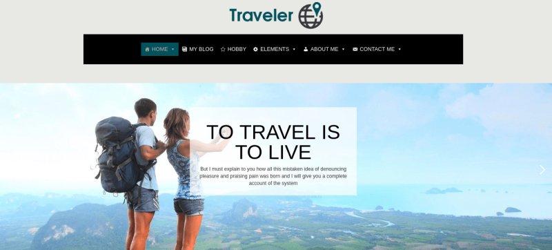 Traveler Free Wordpress Theme