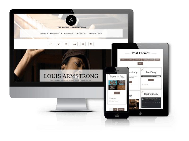 Personal Blog WordPress Theme Artist