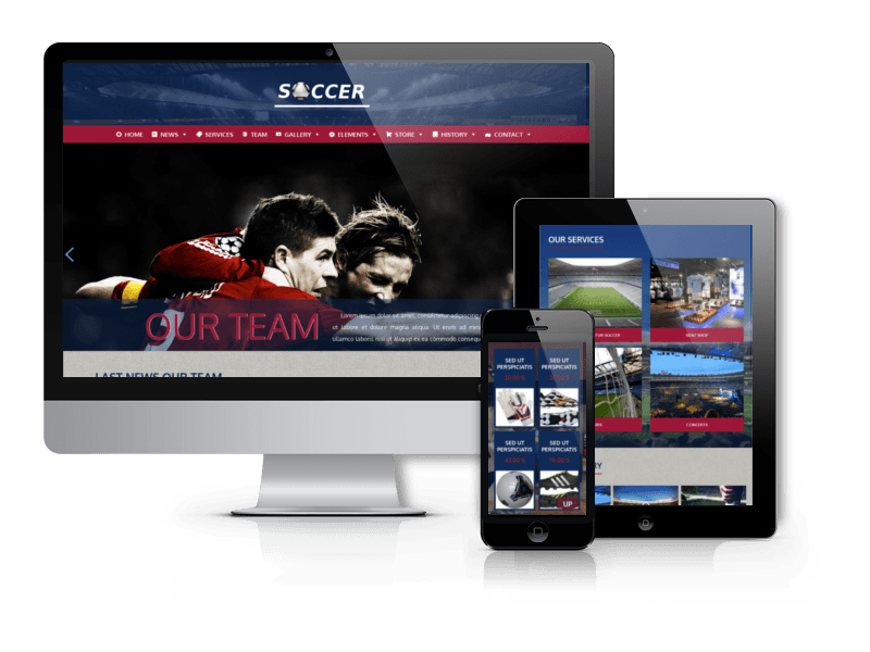 Soccer Football WordPress Theme for sport clubs