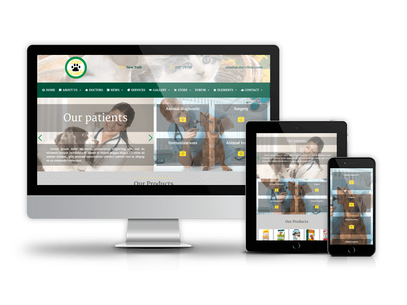 Zoo-Clinic - Veterinary Wordpress Theme