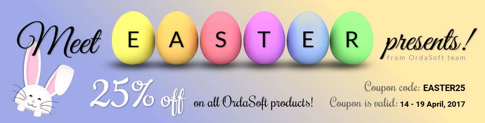 OrdaSoft discount Easter 2017