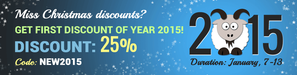 New discounts of year 2015