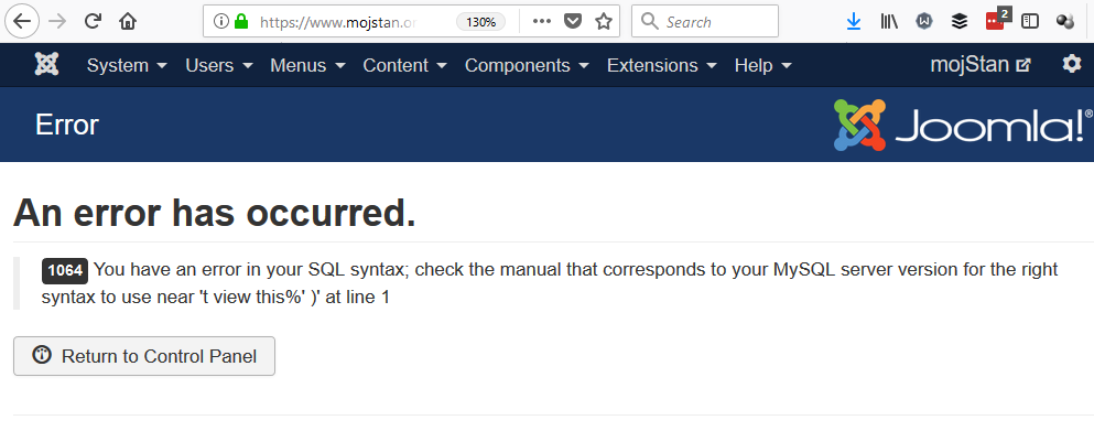 Error: unclosed quote @ 37 stack overflow.