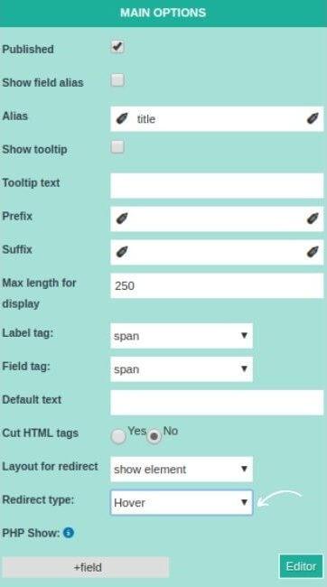create hover effect in joomla website builder