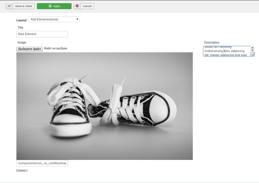 new instance in joomla website builder