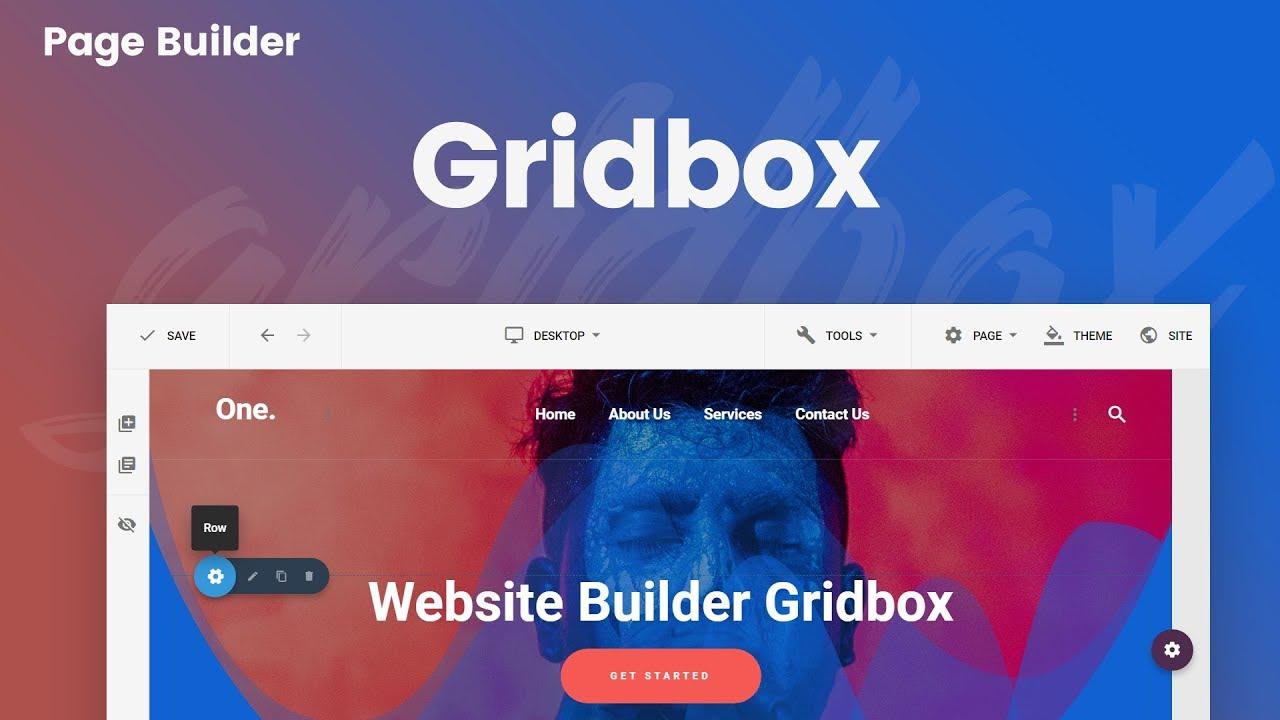 Joomla Website Builder Gridbox mega menu