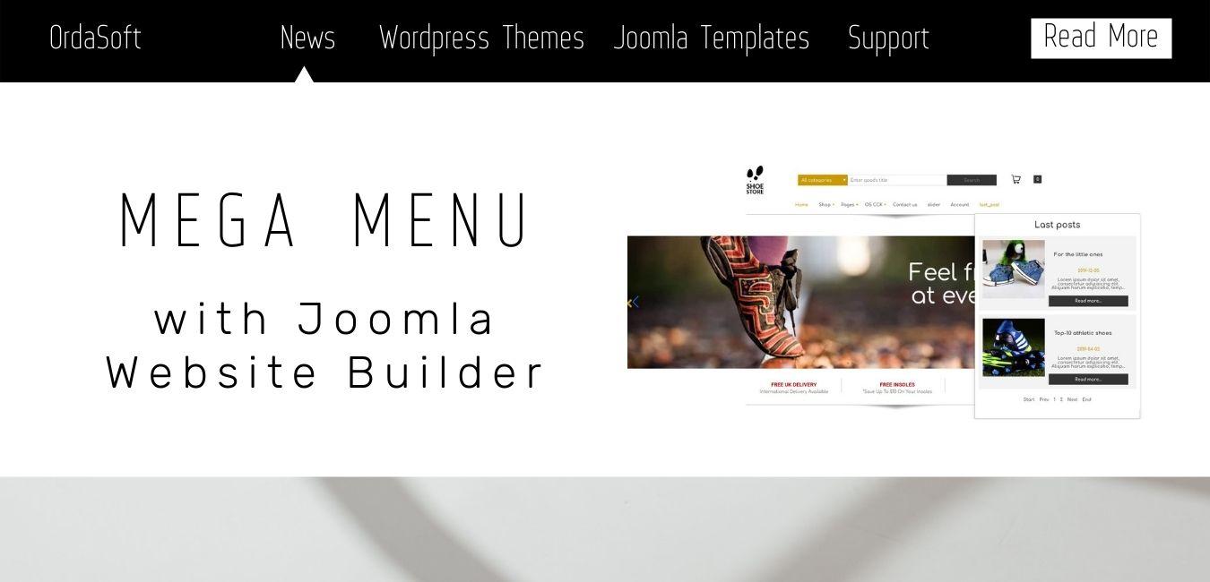 OS Joomla Website Builder Mega Menu module
