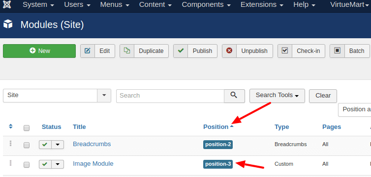 joomla module manager - How to show joomla module in joomla modules positions