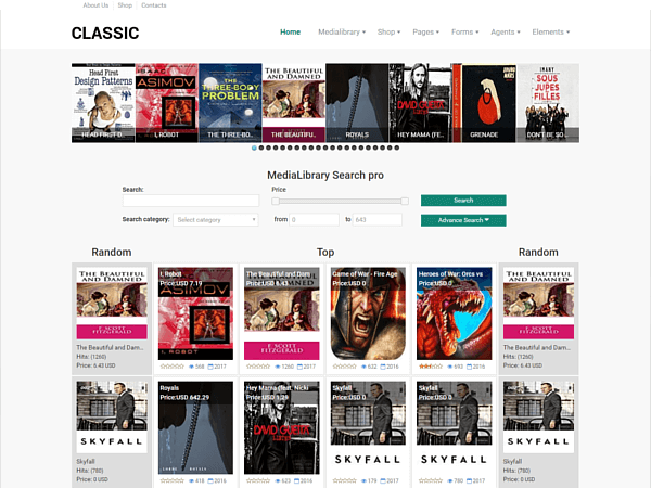 Demo of Media Library Classic template