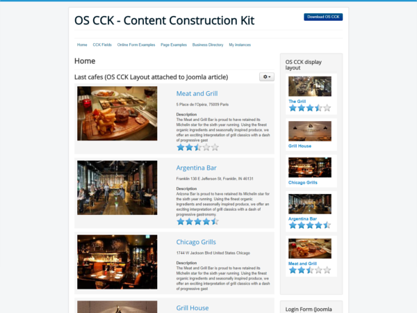 OS CCK Classic website demo