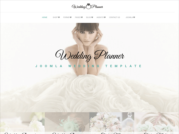Demo of Joomla Wedding template Wedding Planner