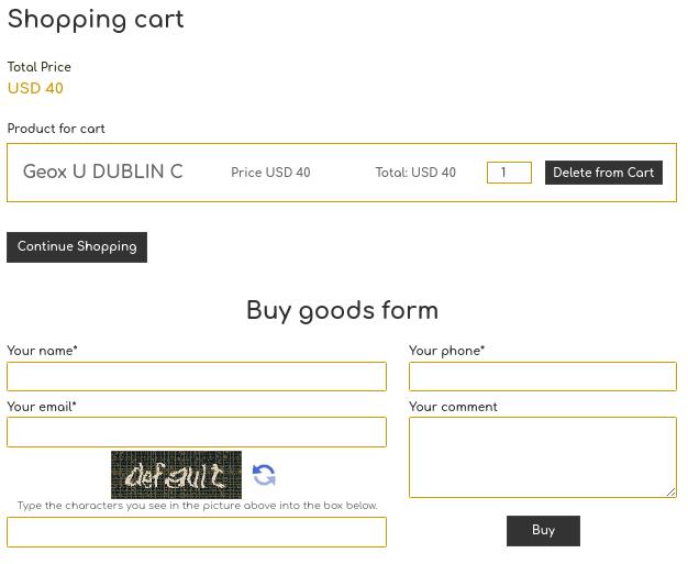 shoe store-comfortable shopping cart