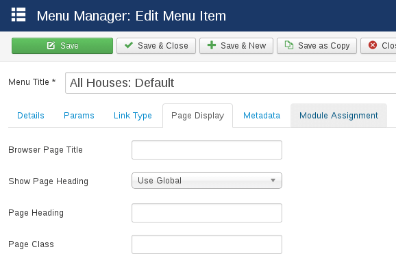 Ability to change browser page title in Real Estate Manager