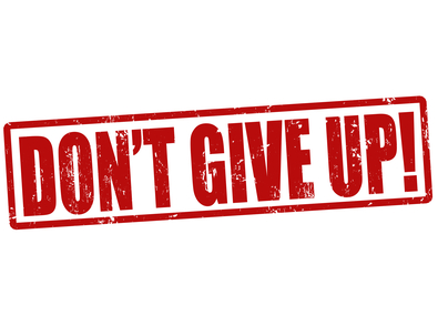 Don't give up to succeed in affiliate marketing