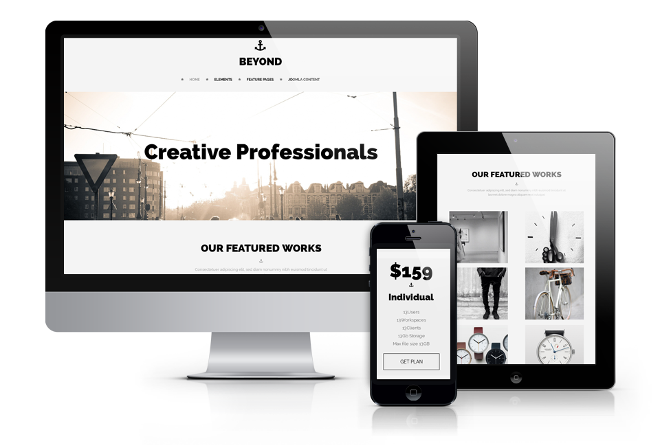 Beyond, creative website template