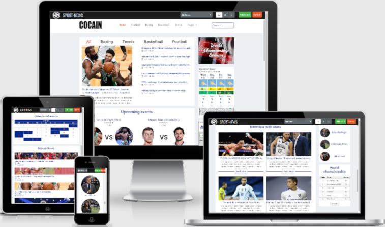 Sport Website Template