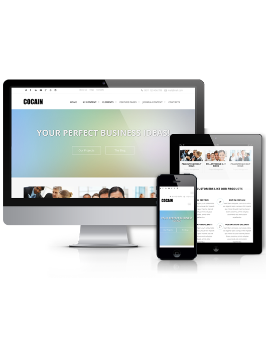 Joomla business template Cocain