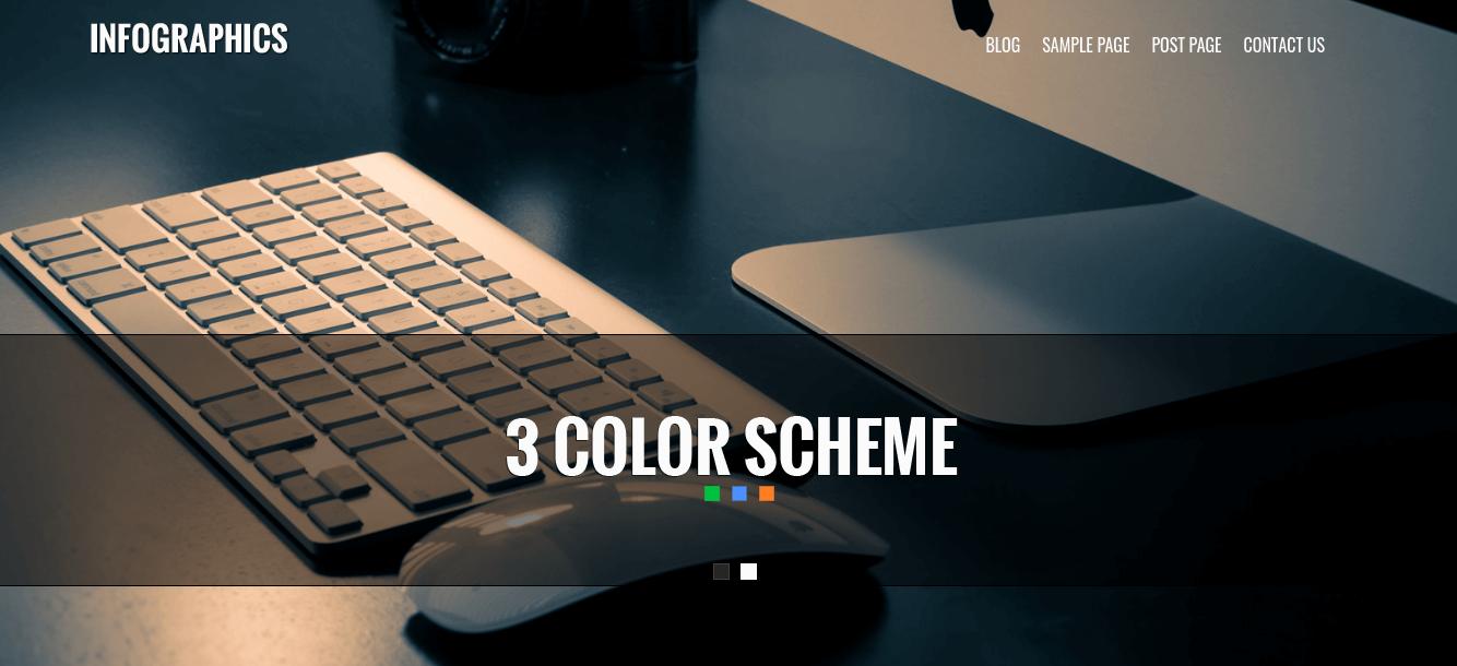 WordPress Business Theme slider